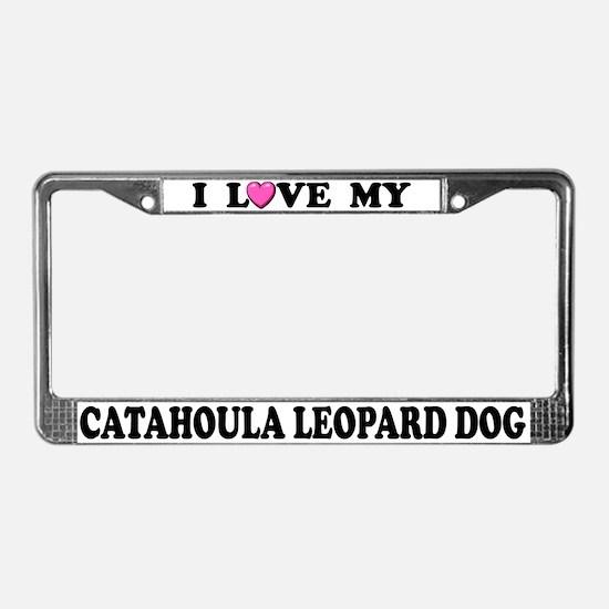 I Love Catahoula Leopard Dog License Plate Frame