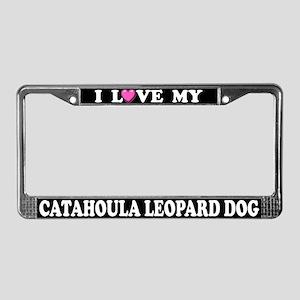 Love My Catahoula Leopard Dog License Plate Frame