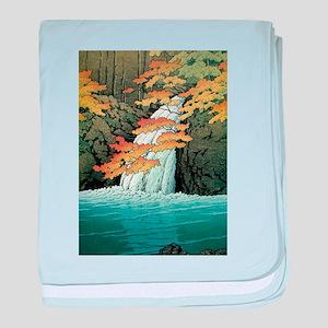 Senju Waterfall, Akame - Kawase Hasui baby blanket