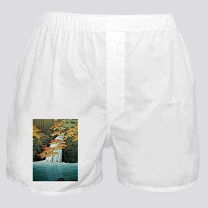 Senju Waterfall, Akame - Kawase Hasui Boxer Shorts