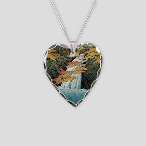 Senju Waterfall, Akame - Kawa Necklace Heart Charm