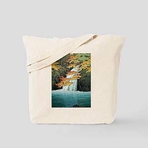 Senju Waterfall, Akame - Kawase Hasui Tote Bag