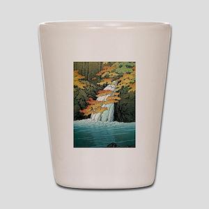 Senju Waterfall, Akame - Kawase Hasui Shot Glass