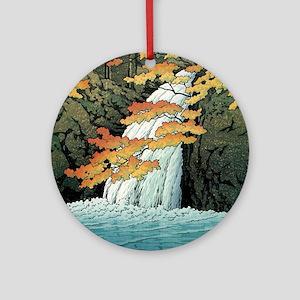 Senju Waterfall, Akame - Kawase Has Round Ornament