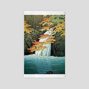 Senju Waterfall, Akame - Kawase Hasui Area Rug