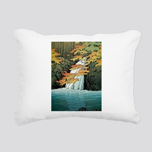 Senju Waterfall, Akame - Rectangular Canvas Pillow