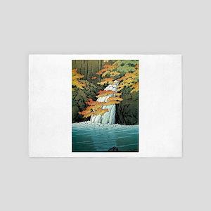 Senju Waterfall, Akame - Kawase Hasui 4' x 6' Rug