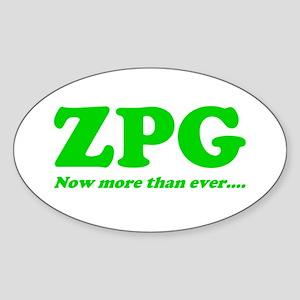 ZPG Oval Sticker