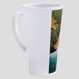 Senju Waterfall, Akame - Kawase Ha 17 oz Latte Mug