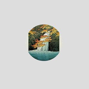 Senju Waterfall, Akame - Kawase Hasui Mini Button