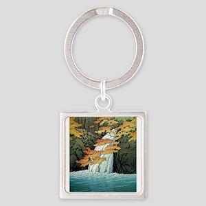Senju Waterfall, Akame - Kawase Hasui Keychains