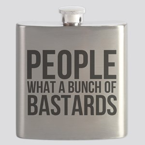 People What a Bunch of Bastards Flask