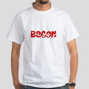 Bacon Surname Heart Design T-Shirt