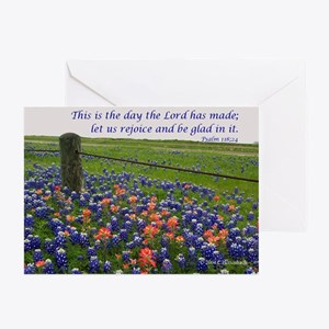 This is the day...Blue Bonnet Greeting Cards (Pack
