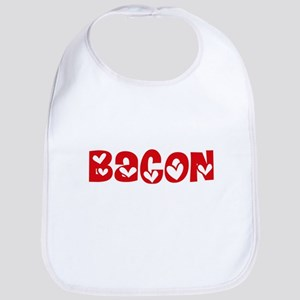 Bacon Surname Heart Design Baby Bib