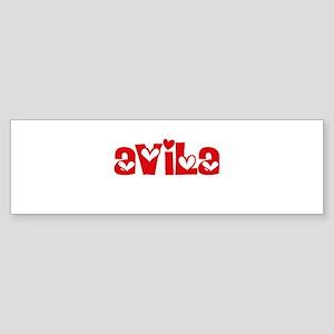 Avila Surname Heart Design Bumper Sticker