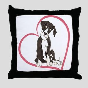NMtl Heart Pup Throw Pillow