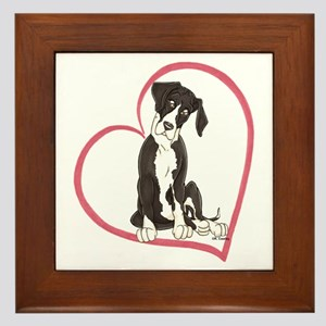 NMtl Heart Pup Framed Tile
