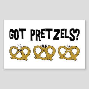 Got Pretzels Rectangle Sticker