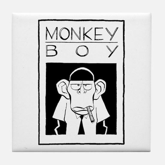 Cute Monkeyboy Tile Coaster