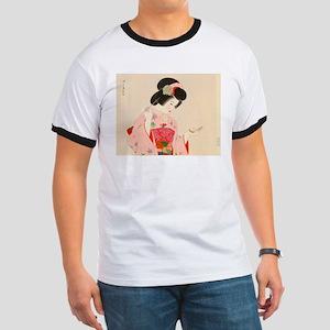Vintage Japanese Geisha Lady Woman Girl Or T-Shirt