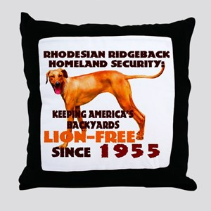 Ridgeback Security Throw Pillow