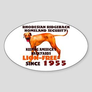 Ridgeback Security Oval Sticker