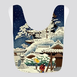 Cool Japanese Oriental Snow Win Polyester Baby Bib