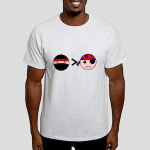 Ninjas Greater Than Pirates Light T-Shirt