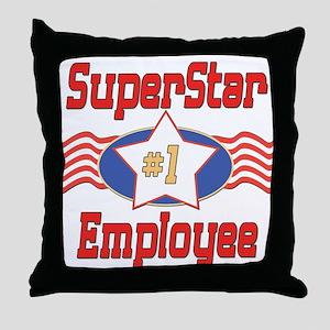 Superstar Employee Throw Pillow