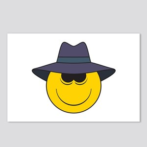 Private Eye/Spy Smiley Face Postcards (Package of