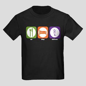 Eat Sleep Civil War Reenactment Kids Dark T-Shirt