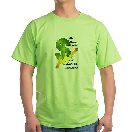 MoneyReiki Infused Green T-Shirt *It GLOWS*