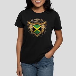 Number One Jamaican Aunt Women's Dark T-Shirt