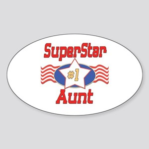 Superstar Aunt Oval Sticker