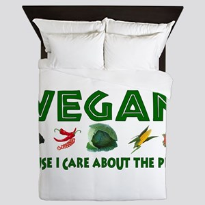 Vegan For The Planet Queen Duvet