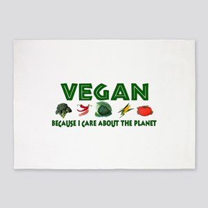 Vegan For The Planet 5'x7'Area Rug