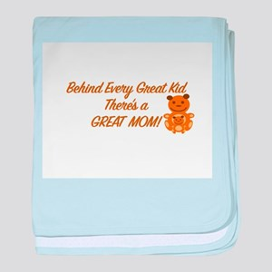 """Teddy Bear Great Mom and Kid"" baby blanket"