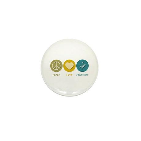 Peace Love Dentistry Mini Button
