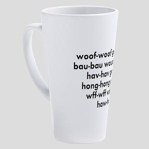 Bark Words form Around the Dog World 17 oz Latte M