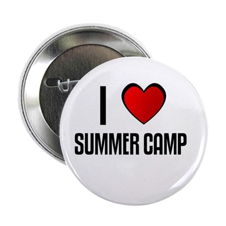 "I LOVE SUMMER CAMP 2.25"" Button (100 pack)"