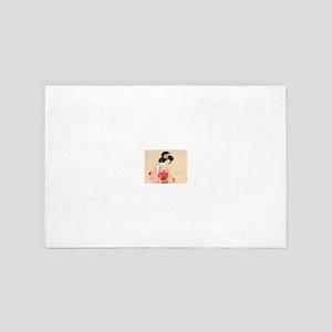 Vintage Japanese Geisha Lady Woman Gir 4' x 6' Rug
