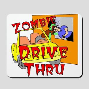 Zombie Drive Thru Mousepad