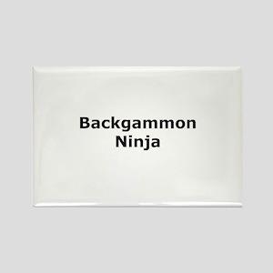 Backgammon Ninja Rectangle Magnet