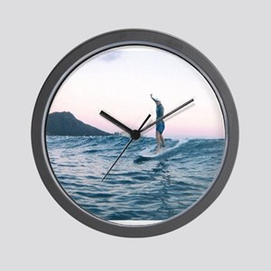 Surfing Paradise Wall Clock