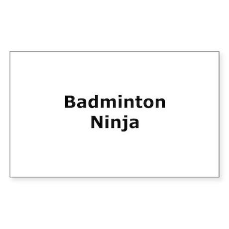 Badminton Ninja Rectangle Sticker