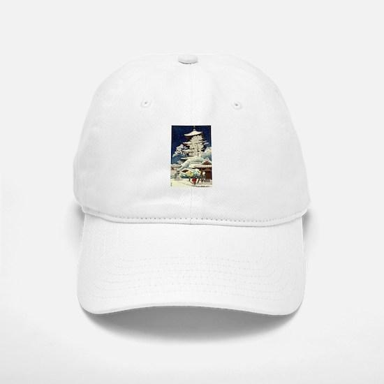 Cool Japanese Oriental Snow Winter Baseball Baseball Cap
