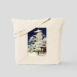 Cool Japanese Oriental Snow Winter Tote Bag