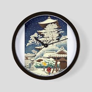 Cool Japanese Oriental Snow Winter Wall Clock