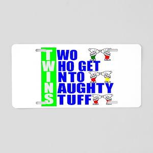 twins Aluminum License Plate